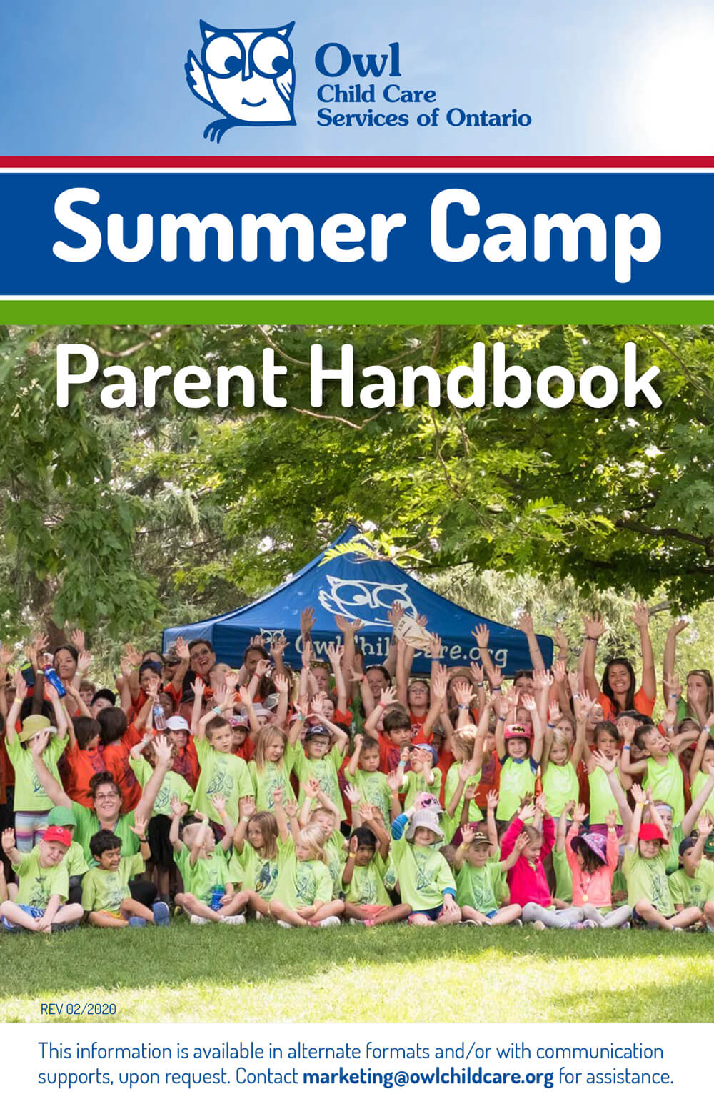 Summer Camp Parent Handbook cover